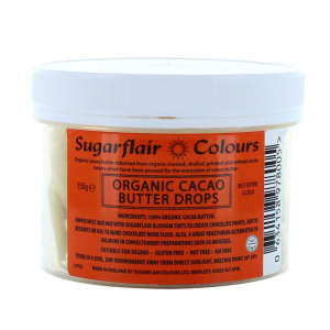 Sugarflair Organic Cacao Butter Drops (150g)