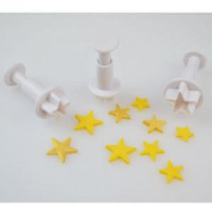 Cake Star Plunger Cutter - Star (Set of 3)