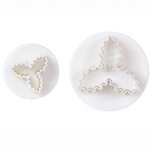 Cake Star Plunger Cutter - Triple Holly (Set of 2)