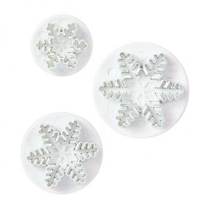 Cake Star Plunger Cutter - Snowflake (Set of 3)