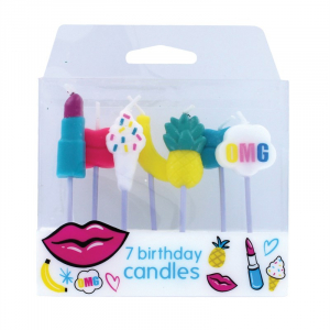 Baked With Love Birthday Candles - Tutti Frutti (Pack of 7)