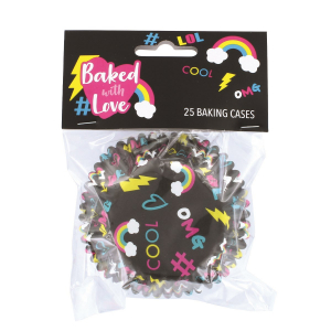 Baked With Love Foil Lined Baking Cases - #LOL (Pack of 25)