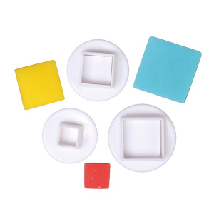 Cake Star Plunger Cutter - Square (Set of 3)
