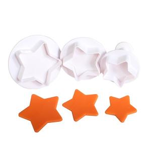 Cake Star Plunger Cutter - Star - Large (Set of 3)