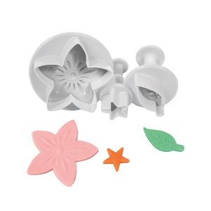 Cake Star Plunger Cutter - Flower, Leaf & Star Calyx (Set of 3)