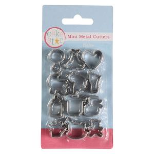 Cake Star Mini Metal Cutters - Baby Set (12 Piece)