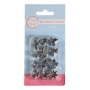 Cake Star Mini Metal Cutters - Nature Set (12 Piece)