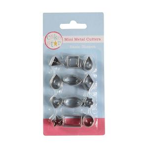 Cake Star Mini Metal Cutters - Basic Shapes Set (12 Piece)