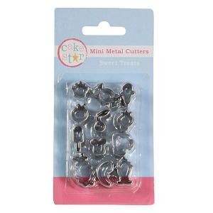 Cake Star Mini Metal Cutters - Sweet Treats Set (12 Piece)