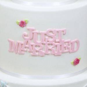 FMM Cutter - Curved Words - Just Married