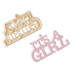 FMM Cutter - Curved Words - It's A Girl