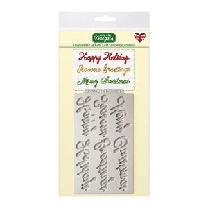 Katy Sue Designs Mould - Word Perfect Holiday Set