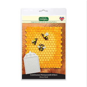 Katy Sue Designs Mat - Continuous Honeycomb & Bees