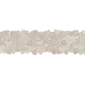 House of Cake Edible Cake Lace Decoration - Hearts