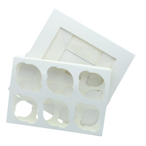 Culpitt Cupcake Box / 6 Cavity - White - Dual Insert