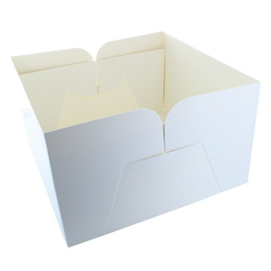 "Cake Box Base Only - White - 10"""