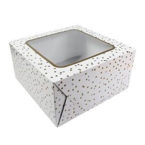 "Cake Box - Metallic Spot - 10"" x 05"" Deep"