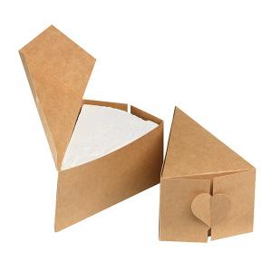 House of Cake Cake Slice Box - Kraft Brown (Pack of 10)