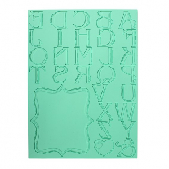 Pavoni Magic Decor Cake Lace Mat - Alphabet Letters & Frame