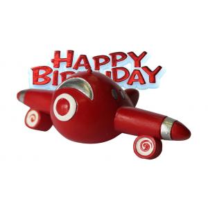 Anniversary House Cake Decoration - Happy Birthday Airplane