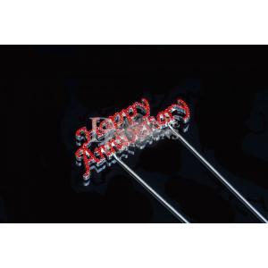Diamante Designs Pick - Happy Anniversary - Ruby - Small