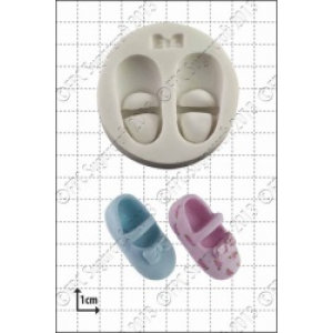 FPC Mould - Baby Shoes & Bow