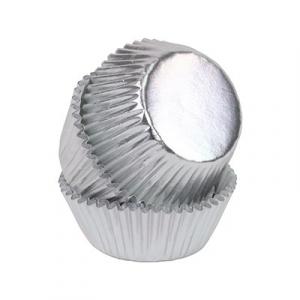 PME Mini Baking Cases - Foil - Silver (Pack of 45)