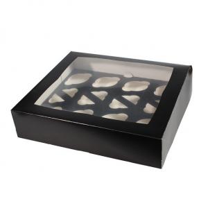 Cupcake Box / 12 Cavity - Black