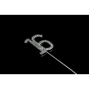 Diamante Designs Number Pick - 16 - Black - Large