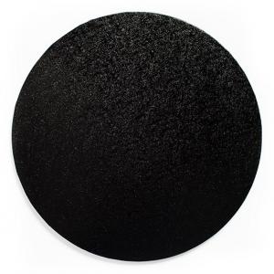 """Cake Board Drum - Round - Black - 12"""""""