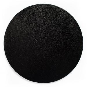 """Cake Board Drum - Round - Black - 8"""""""