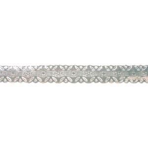 Culpitt Embossed Foil Banding - Silver- 13mm x 100m