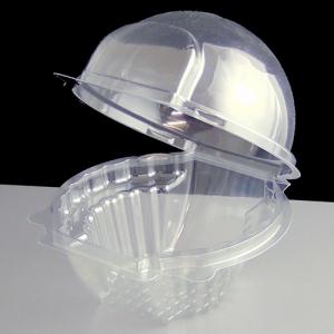 Plastic Hinged Muffin Pod - 1 Cavity