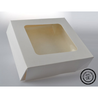 "Petit Four / Sweet Box - 6"" Square x 1.5"" Deep"