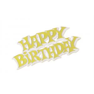 Culpitt Decoration / Motto - Happy Birthday - Modern - Gold (Pack of 50)