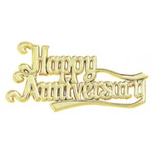 Culpitt Decoration / Motto - Happy Anniversary - Gold (Pack of 50)