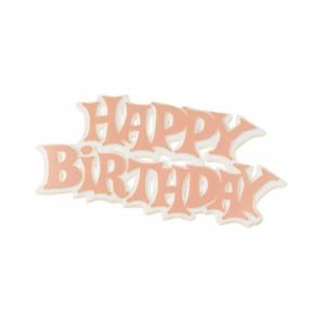 Culpitt Decoration / Motto - Happy Birthday - Modern - Pink (Pack of 50)