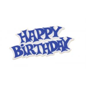 Culpitt Decoration / Motto - Happy Birthday - Modern - Blue (Pack of 50)