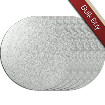 "Cake Board Hardboard - Round - Silver - 11"" (Pack of 5)"
