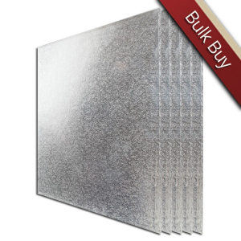 "Cake Board Hardboard - Square - Silver - 15"" (Pack of 5)"