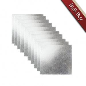 "Cake Board Hardboard - Square - Silver - 10"" (Pack of 10)"