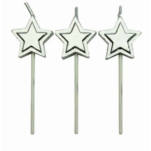 PME Candles - Stars - Silver (Pack of 8)