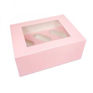 Luxury Cupcake Box - 6 Cavity - Baby Pink