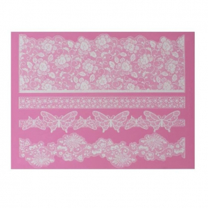 Cake Lace Mat - Madame Butterfly