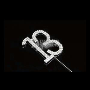 Diamante Designs Number Pick - 13 - Silver - Large