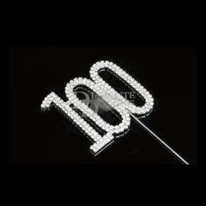 Diamante Designs Number Pick - 100 - Silver - Large