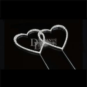Diamante Designs Pick - Double Heart - Medium