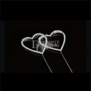 Diamante Designs Pick - Double Heart - Small