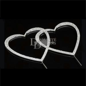 Diamante Designs Pick - Double Heart - Large