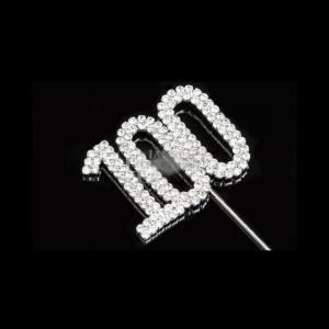 Diamante Designs Number Pick - 100 - Silver - Medium